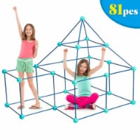 Gymax Kids Crazy Construction Fort Building Kit 81 Pieces Indoor & Outdoor Gift Toys - 1 unit