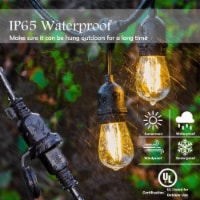 Costway 36FT LED Outdoor Waterproof Commercial Grade Patio Globe String Light Bulbs - 1 unit