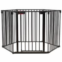 Costway 6 Panel Baby Safe Metal Gate Play Yard Barrier Pet Fence Adjustable - 1 unit
