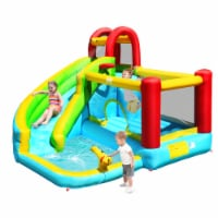 Gymax Inflatable Kids Water Slide Jumper Bounce House Splash Water Pool Without Blower - 1 unit