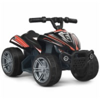 Costway 6V Kids 4-Wheeler ATV Quad Battery Powered Electric Ride On Car Toy Red\Black - 1 unit