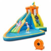 Costway  Kids Bounce House Castle Splash Water Pool W/ 740W Blower - 1 unit