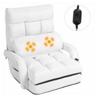 Costway Folding Floor Single Sofa Massage Recliner Chair W/ a Pillow 5 Adjustable Backrest - 1 unit
