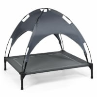 Gymax 36'' Portable Elevated Dog Cot Outdoor Cooling Pet Bed w/ Removable Canopy Shade - 1 unit
