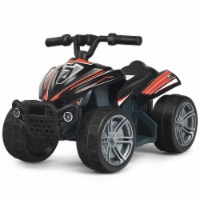 Gymax Kids Electric Vehicle 6V Battery Powered Ride on Car Toy Gift Black/Red - 1 unit