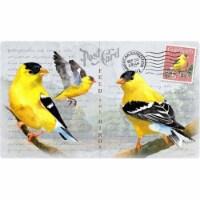 American Expedition AMECBRD243 Goldfinch Postcard Cutting Board - 1