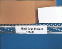 """Nexel ABM12C-12 Clear Label Holder 12""""W x 1-1/4""""H With Paper Insert (12 Pc)"""