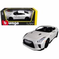 Bburago 21082W 1 isto 24 2017 Nissan GT-R R35 Diecast Car Model, White