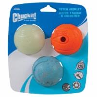 Petmate Chuckit! Fetch Medley Dog Balls 3 Count