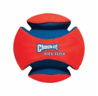 Chuckit! Multicolored Kick Fetch Rubber Ball Dog Toy Large 1 - Case Of: 1; - 1