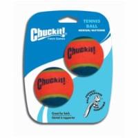 Chuckit! Multicolored Ball Launcher Rubber Tennis Balls Medium 2 - Case Of: 1; Each Pack Qty: