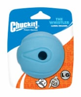 Chuckit! Whistler Blue Whistler Rubber Dog Toy Large 1 - Case Of: 1; - Count of: 1