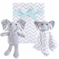 Hudson Baby Animal Friend Plushy Security Blanket Gray Elephant
