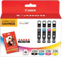 Canon Photo Paper and CLI-226 Ink Cartridges Combo