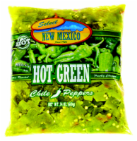 Select New Mexico Hot Green Chile Peppers