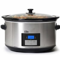 8.5 qt. Digital Slow Cooker with Lid, Stainless Steel
