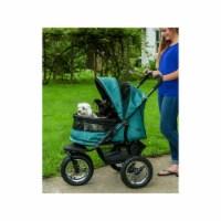 No-Zip Double Pet Stroller, Pine Green - 1