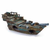 11 1/2''L x 4''H x 4 1/2''W Small Shipwreck