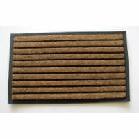 18 x 30 in. Rubber Back Tuffcor Ribbed Natural Door Mat