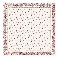 Christmas Time 36 x 36 Table Topper - Ivory & Red