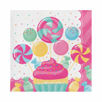 Group  2 Ply Candy Bouquet Luncheon Napkin, Pack of 12 - 16 Per Pack - 12
