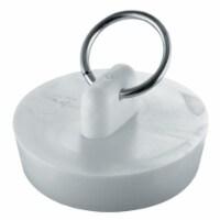 1-.50 in. White Basin Stopper