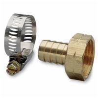 75 in. Brass & Worm Gear Clamp Female Hose Repair - 1