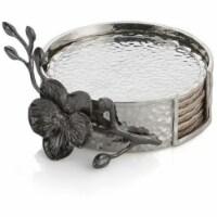 Black Orchid Coaster Set - - 1