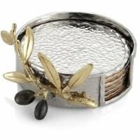 Olive Branch Gold Coaster Set -