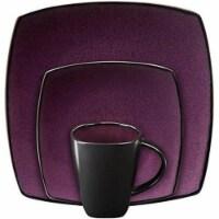 Soho Lounge Square Dinnerware Set, Purple & 16 piece