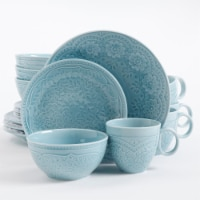 Alemany 16Pc Dinnerware Set - Aqua