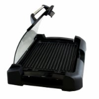 Reversible Indoor Grill And Griddle With Removable Glass Lid