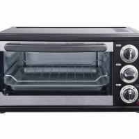6 Slice Convection Toaster Oven, Black - 1