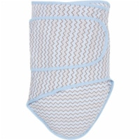 Chevrons With Blue Trim Baby Swaddle Blanket - 1