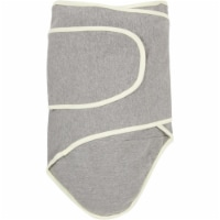 Gray With Yellow Trim Baby Swaddle Blanket - 1