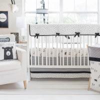 Little Bear Crib Rail Cover - Black - 1