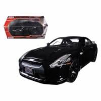 Motormax 73384blk 2008 Nissan GT-R R-35 Glossy Black 1-24 Diecast Model Car