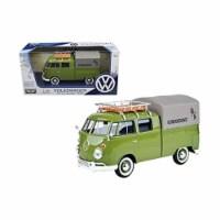 Motormax 79554GRN Volkswagen Type 2 Kundendienst Delivery Pickup Truck Diecast Model Car for