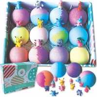 12 XL Bath Bombs for Kids with Surprise Pokemon Toys Inside. Party Favors for Kids! - 1
