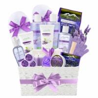 Jasmine Lavender Bath Gift Basket for Women! XL Spa Gift Basket for Relaxing at Home Spa Kit. - 1
