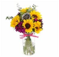 Extra Large Mason Jar Seasonal Floral Arrangement