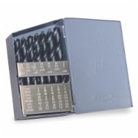 """Jobber Drill Bit Set,  Number of Drill Bits 29,  Drill Bit Point Angle 118° - 1/16""""-1/2"""" by 1/64"""""""