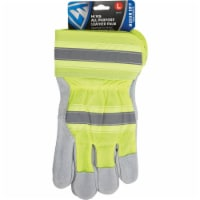 West Chester Protective Gear Men's Large Leather High Visibility Work Glove - L