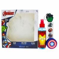 Marvel Avengers 5.1oz Body Spray, Tattoo, YoYo, KeyRing 4 Pc Gift Set