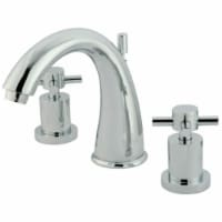 Kingston Brass KS2961DX 8 in. Widespread Bathroom Faucet, Polished Chrome - 1