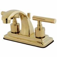 Kingston Brass KS4642CML 4 in. Centerset Bathroom Faucet, Polished Brass - 1