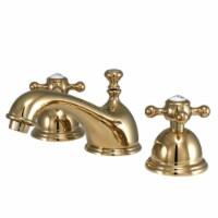 Kingston Brass KS3962BX 8 in. Widespread Bathroom Faucet, Polished Brass - 1