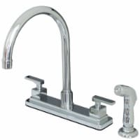 Kingston Brass KS8791QLL Executive 8-Inch Centerset Kitchen Faucet, Polished Chrome - 1