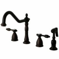 Kingston Brass KB1795TALBS Widespread Kitchen Faucet, Oil Rubbed Bronze
