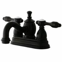 Kingston Brass KS7105TAL 4 in. Centerset Bathroom Faucet, Oil Rubbed Bronze - 1